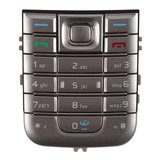 Keyboard for Nokia 6233 Cell Phone, (silver, english)