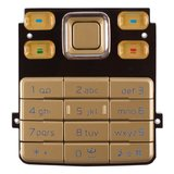 Keyboard for Nokia 6300 Cell Phone, (golden, english)
