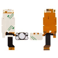 Flat Cable for Sony Ericsson U100 Cell Phone, (copy, for mainboard, camera, with components, with upper keypad module)