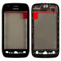 Touchscreen for Nokia 710 Lumia Cell Phone, (black, with front panel)