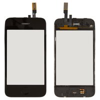 Touchscreen for Apple iPhone 3G Cell Phone, (black, with frame, with HOME button)