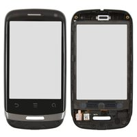 Touchscreen for Huawei U8510 Ideos X3 Cell Phone, (black, with front panel)