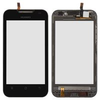Touchscreen for Huawei C8810 Cell Phone, (black, with front panel)