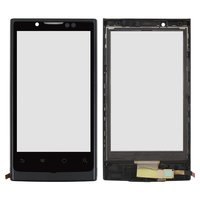 Touchscreen for Huawei U9000 Ideos X6 Ascend X Cell Phone, (black, with frame)