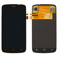 LCD for HTC G25, Z320e One S, Z560e One S Cell Phones, (black, with touchscreen)