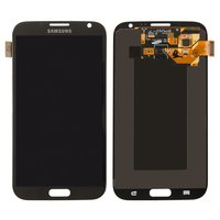 LCD for Samsung I317, N7100 Note 2, N7105 Note 2, T889 Cell Phones, (grey, with touchscreen)
