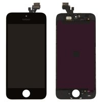 LCD iPhone 5, (black, high copy, with touchscreen, with frame)