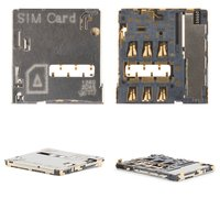SIM Card Connector for Samsung I9300 Galaxy S3, I9500 Galaxy S4, I9505 Galaxy S4, N7100 Note 2, N7105 Note 2 Cell Phones