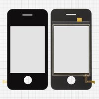 Touchscreen for China-iPhone 4, 4s Cell Phones, (black, (113*57mm), 81 mm, type 1, (65*49mm)) #MA-0294A