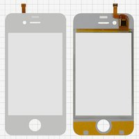 Touchscreen for China-iPhone 4, 4s Cell Phones, (white, capacitive, (112*56mm), 91 mm, type 1, (76*51mm)) #FPC_N9000