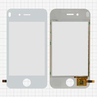 Cristal táctil para celulares China-iPhone 4, 4s, blanco, capacitivo, (112*57mm), 90mm, tipo 3, (75*50mm), #SU-A888-IV-FPCV3
