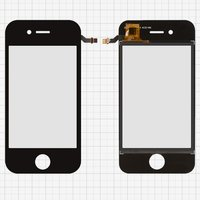 Touchscreen for China-iPhone 4, 4s Cell Phones, (black, capacitive, (113*56 mm), 89 mm, type 5, (74*50mm)) #SU-BM608-FPCV2