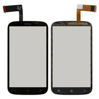 Touchscreen for HTC T328e Desire X Cell Phone, (black)