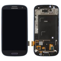 LCD for Samsung I9300 Galaxy S3 Cell Phone, (dark blue, with touchscreen, with front panel)