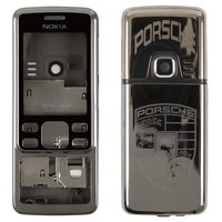 Housing for Nokia 6300 Cell Phone, (white, grey, high copy, with ornament)