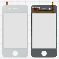 Touchscreen for China-iPhone 4, 4s Cell Phones, (white, capacitive, (113*56 mm), 90mm, type 5, (75*50mm)) #CTG-035-0108-FPC-V4