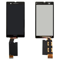 LCD for Sony C6602 L36h Xperia Z, C6603 L36i Xperia Z, C6606 L36a Xperia Z Cell Phones, (black, original (PRC), with touchscreen)