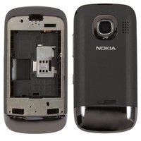 Housing for Nokia C2-02 Cell Phone, (black, high copy)