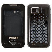 Housing for Samsung S5600v Cell Phone, (black, high copy, with ornament)
