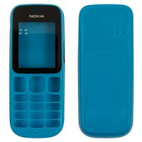 Housing for Nokia 101 Cell Phone, (dark blue, high copy, front and back panel)