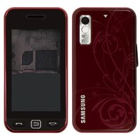 Housing for Samsung S5230 Star Cell Phone, (wine red, high copy, with ornament)