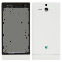 Housing for Sony ST25i Xperia U Cell Phone, (white)