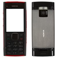 Housing for Nokia X2-00 Cell Phone, (red, high copy, with keyboard)