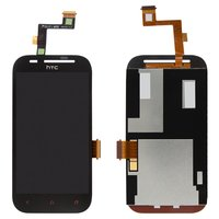 LCD for HTC T326e Desire SV Cell Phone, (black, with touchscreen)