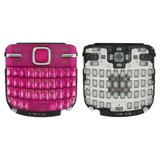 Keyboard for Nokia C3-00 Cell Phone, (pink, english)