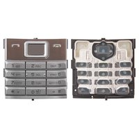 Keyboard for Nokia 8800 Sirocco Cell Phone, (silver, english)