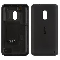 Housing Back Cover for Nokia 620 Lumia Cell Phone, (black, with side button)