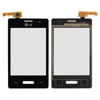 Touchscreen for LG E425 Optimus L3 II Cell Phone, (black)