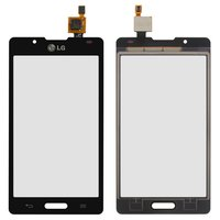 Touchscreen for LG P710 Optimus L7 II, P713 Optimus L7 II, P714 Optimus L7X Cell Phones, (black)