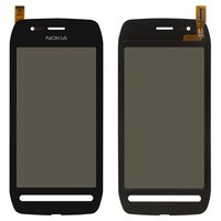 Touchscreen for Nokia 603 Cell Phone, (black)