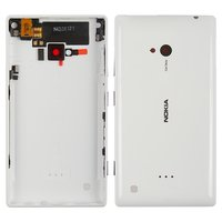 Housing Back Cover for Nokia 720 Lumia Cell Phone, (white, with side button)