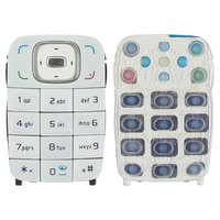 Keyboard for Nokia 6131 Cell Phone, (white, english)