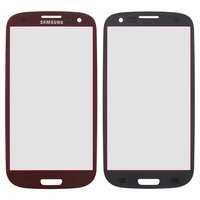Housing Glass for Samsung I9300 Galaxy S3, I9305 Galaxy S3 Cell Phones, (red)