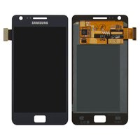 LCD for Samsung I9105 Galaxy S2 Plus Cell Phone, (dark blue, with touchscreen)