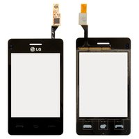 Touchscreen for LG T370, T375 Cell Phones, (black)