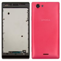 Housing for Sony ST26i Xperia J Cell Phone, (pink)