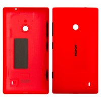 Housing Back Cover for Nokia 520 Lumia Cell Phone, (red, with side button)