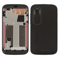 Housing for HTC T328e Desire X Cell Phone, (black)