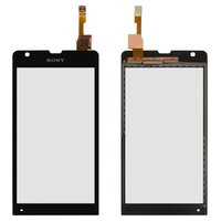 Touchscreen for Sony C5302 M35h Xperia SP, C5303 M35i Xperia SP Cell Phones, (black)