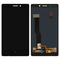 LCD for Nokia 925 Lumia Cell Phone, (black, with touchscreen)