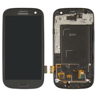 LCD for Samsung I9300 Galaxy S3 Cell Phone, (grey, with touchscreen, with front panel)