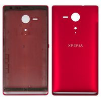 Housing for Sony C5302 M35h Xperia SP, C5303 M35i Xperia SP Cell Phones, (red)