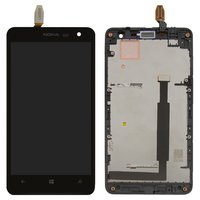 LCD for Nokia 625 Lumia Cell Phone, (black, with touchscreen, with frame)