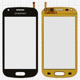 Touchscreen compatible with China-Samsung S7562, (capacitive, black, (118*59mm), (82*53mm)) #XY-1065 2013>