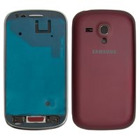 Housing for Samsung I8190 Galaxy S3 mini Cell Phone, (wine red)