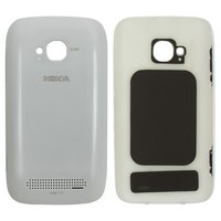 Housing Back Cover for Nokia 710 Lumia Cell Phone, (white, with side button)